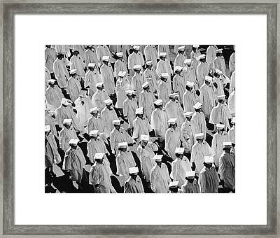 Graduates In Caps & Gowns Framed Print by George Marks