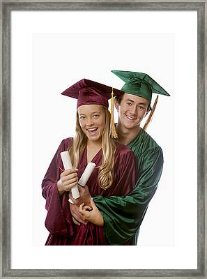 Graduation Couple IIi Framed Print