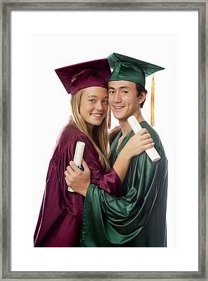 Graduation Couple Framed Print