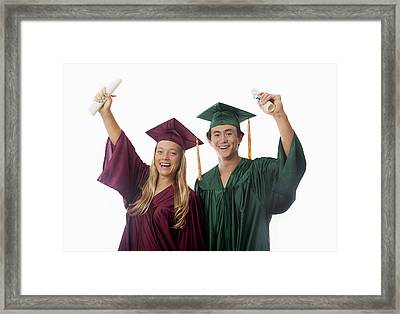 Graduation Couple V Framed Print