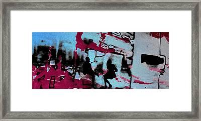 Graffiti - Urban Art Serigrafia Framed Print