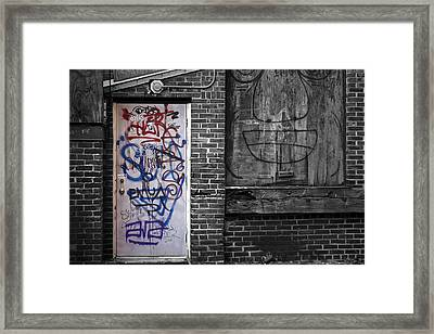 Graffiti Door Framed Print by Eric Gendron