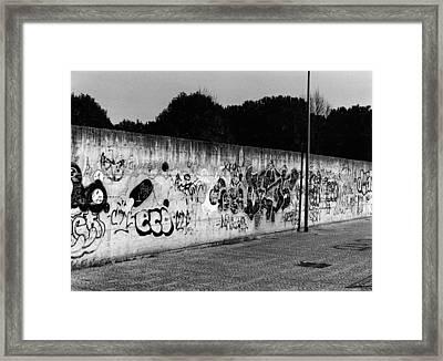 Graffiti In Rome Framed Print by Luca Rosa