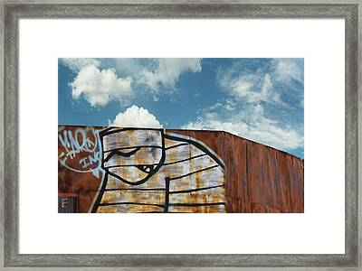 Graffiti Monster Framed Print