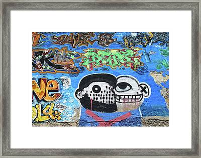 Framed Print featuring the photograph Graffiti Provence France by Dave Mills