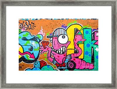 Graffiti Spray-worm Framed Print by Yurix Sardinelly