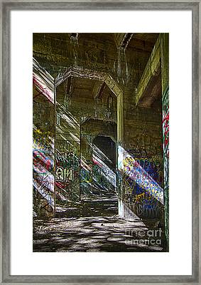 Framed Print featuring the photograph Graffiti Underground by Vicki DeVico