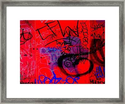 Graffiti Wall 2 Framed Print