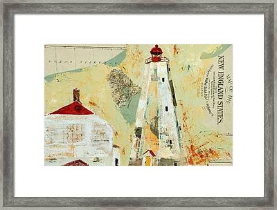 Graffitti Lighthouse Framed Print