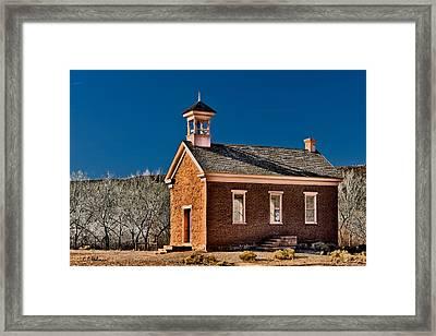 Grafton Schoolhouse Framed Print by Christopher Holmes