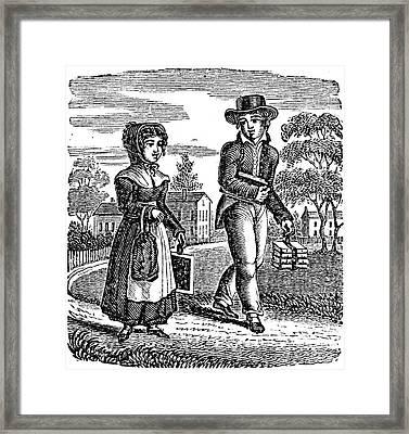Grammar School Children Framed Print by Granger