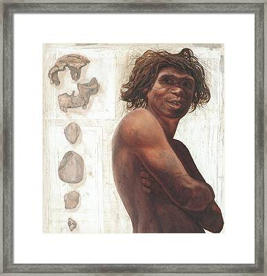 Gran Dolina Boy Reconstruction Framed Print by Kennis And Kennismsf