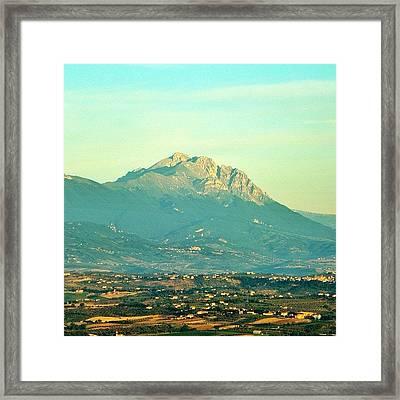 Gran Sasso Sunrise Framed Print