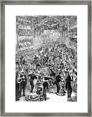 Grand Ball, New York, 1877 Framed Print by Granger