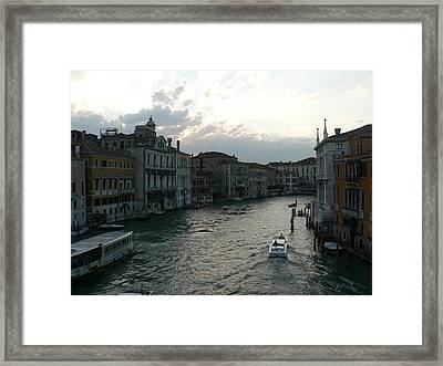 Grand Canal At Dusk Framed Print