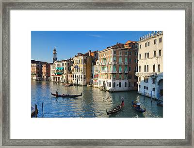 Grand Canal From Rialto Bridge, Venice Framed Print by Chris Hepburn