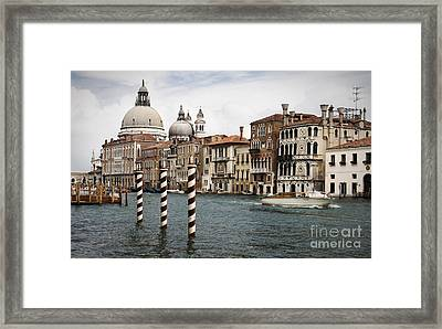 Grand Canal Framed Print by Greg Stechishin