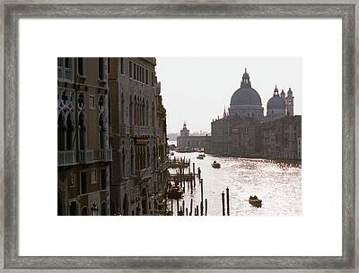 Grand Canal Venice 01 Framed Print by Carlos Diaz