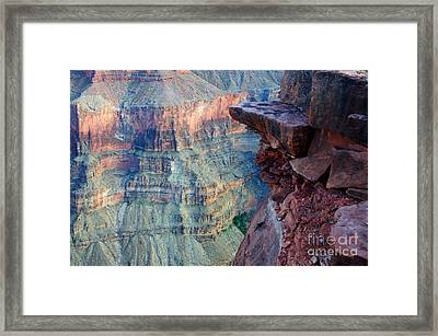 Grand Canyon A Place To Stand Framed Print by Bob Christopher