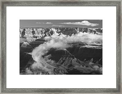 Grand Canyon Black And White Framed Print