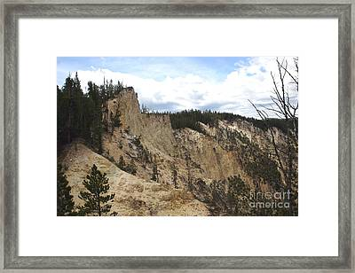 Framed Print featuring the photograph Grand Canyon Cliff In Yellowstone by Living Color Photography Lorraine Lynch