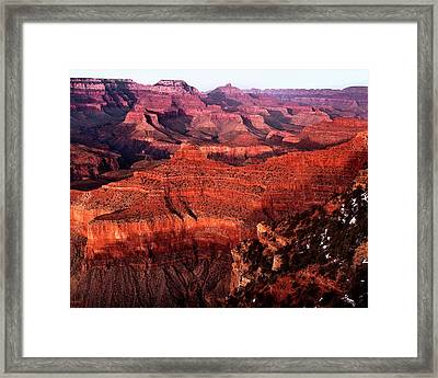 Framed Print featuring the photograph Grand Canyon by James Bethanis