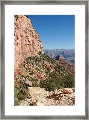 Grand Canyon National Park Bright Angel Loop Arizona Usa Framed Print by Audrey Campion