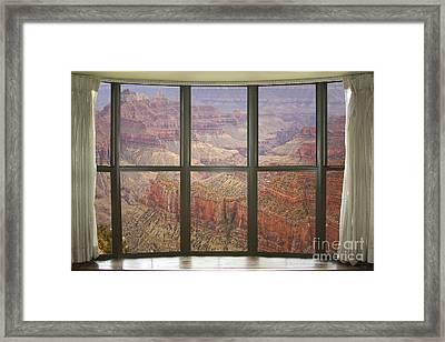 Grand Canyon North Rim Bay Window View Framed Print