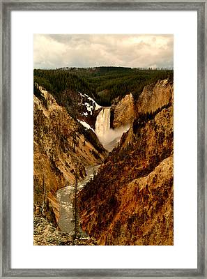 Grand Canyon Of The Yellowstone Framed Print by Ellen Heaverlo