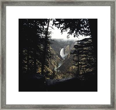 Framed Print featuring the photograph Grand Canyon Of The Yellowstone  by J L Woody Wooden