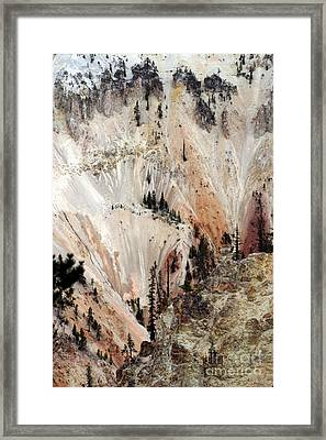 Framed Print featuring the photograph Grand Canyon Of Yellowstone Vertical by Living Color Photography Lorraine Lynch