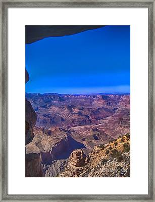 Grand Canyon Overlook Framed Print by Jeremy Linot