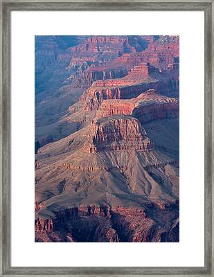 Grand Canyon Rims Framed Print by Olga Vlasenko
