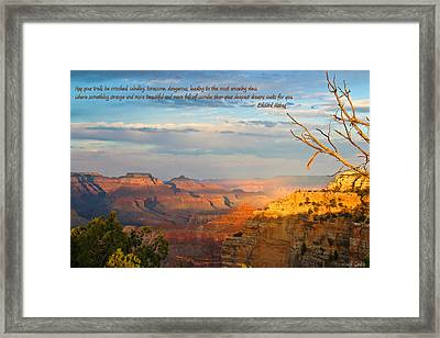Grand Canyon Splendor - With Quote Framed Print