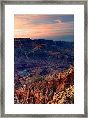 Grand Canyon Sunset Framed Print by C Thomas Willard