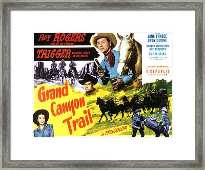 Grand Canyon Trail, From Left In Color Framed Print