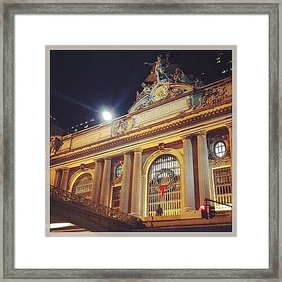 Grand Central Christmas Wreath Framed Print