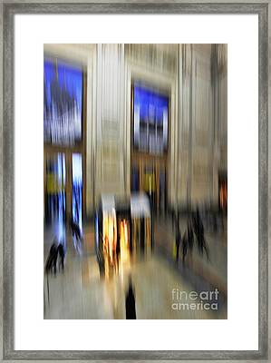 Framed Print featuring the photograph Grand Central Station Italian Style by Andy Prendy