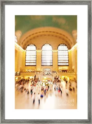Grand Central Terminal New York City Framed Print by Kim Fearheiley