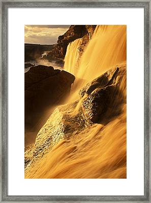 Grand Falls Of The Little Colorado Framed Print by Ralph Lee Hopkins