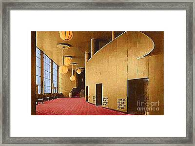 Grand Foyer In The Center Theatre In New York City 1940 Framed Print by Dwight Goss
