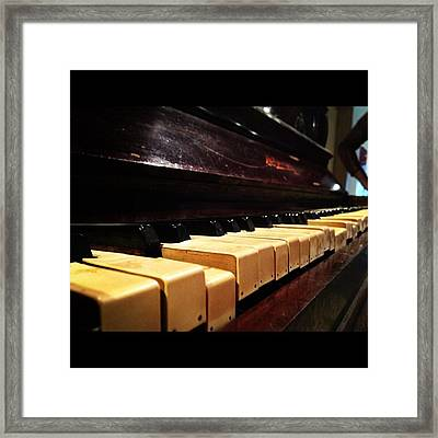 Grand Gran Piano.. #piano #iphone4s Framed Print