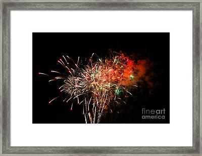 Grand Haven Mi Fireworks Framed Print