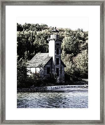 Grand Island Lighthouse Framed Print