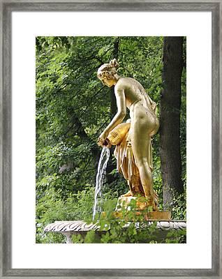 Grand Palace Garden Statue Peterhof Framed Print