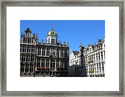 Grand Place Buildings Framed Print by Carol Groenen