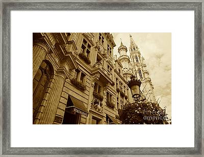 Grand Place Perspective Framed Print by Carol Groenen