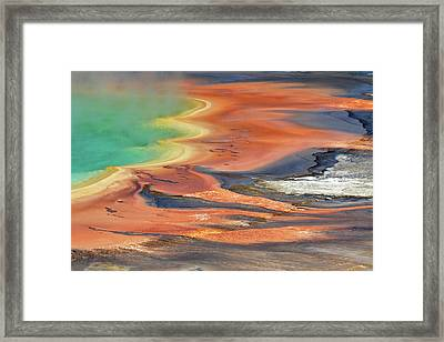 Grand Prismatic Spring Runoff Framed Print
