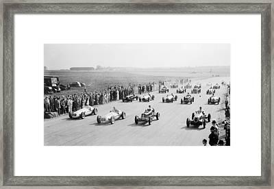 Grand Prix Start Framed Print by Central Press