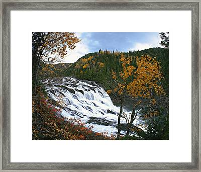 Grand-sault Falls On Madeleine River Framed Print by Yves Marcoux